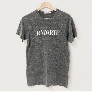 "RODARTE ""Radarte"" Graphic Heathered Gray Tee Sz M"
